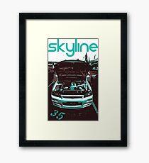 Nissan Skyline Framed Print