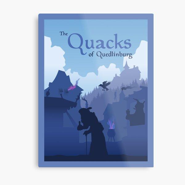 Les charlatans de Quedlingburg - Jeu de société - Style d'affiche de voyage minimaliste - Art de jeu Impression métallique