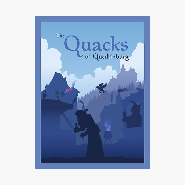 The Quacks of Quedlingburg - Board Game- Minimalist Travel Poster Style - Gaming Art Photographic Print