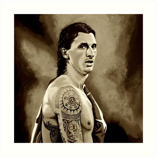 12dbecf24 Láminas artísticas «Zlatan Ibrahimovic Sepia» de PaulMeijering ...