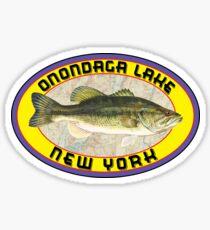 ONONDAGA LAKE NEW YORK BASS FISHING FISH LARGEMOUTH SMALLMOUTH SYRACUSE Sticker