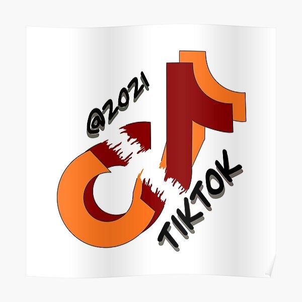 Red Tiktok Logo Posters | Redbubble