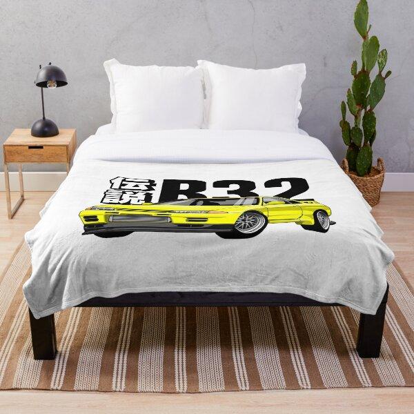 Skyline R32 GTR (Yellow) Throw Blanket