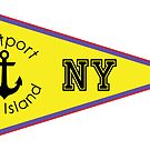 EASTPORT LONG ISLAND NEW YORK ANCHOR NAUTICAL FLAG PENNANT OCEAN BEACH SURFING SURF YACHT YACHTING BOAT by MyHandmadeSigns