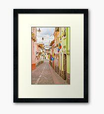 La Ronda Street Quito Ecuador Framed Print