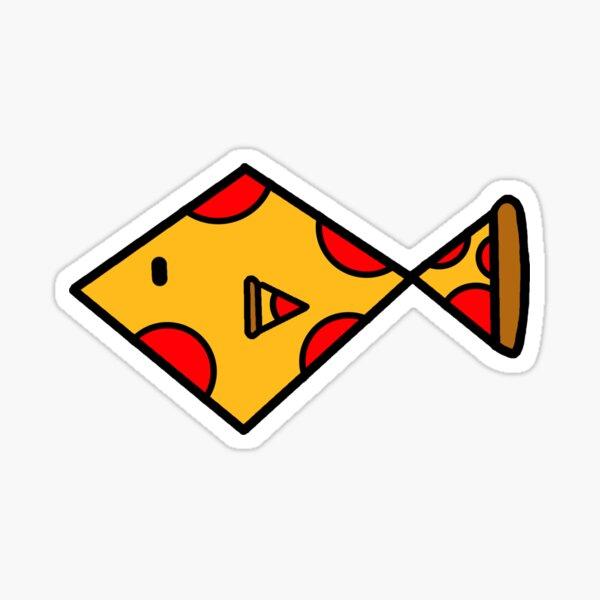 Pizza Fish Sticker