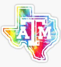 Texas A&M Tie Dye Sticker