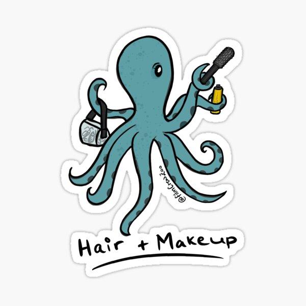Hair and Makeup Octopus Sticker