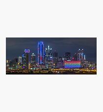 "Dallas ""Orlando Tribute"" Skyline 2016 Photographic Print"