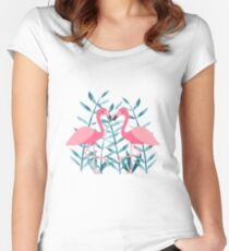 Flamingo fever Women's Fitted Scoop T-Shirt