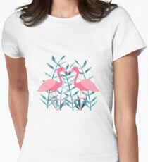 Flamingo fever Women's Fitted T-Shirt
