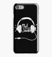 Mad Sounds White iPhone Case/Skin