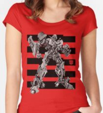 Transformers Bumblebee Stripe Women's Fitted Scoop T-Shirt