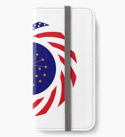 Indiana Murican Patriot Flag Series iPhone Wallet
