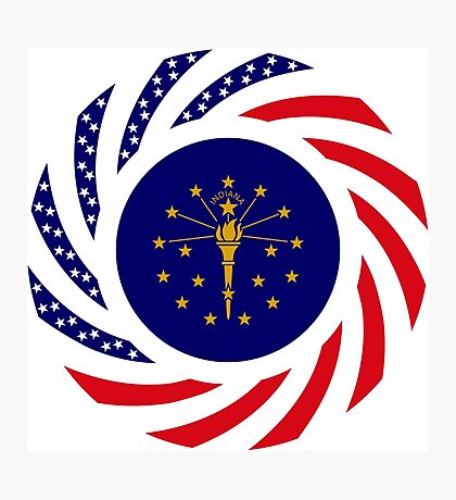 Indiana Murican Patriot Flag Series Photographic Print