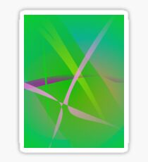 Abstract Pattern Green Grass Sticker