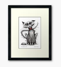My horrible cat Framed Print