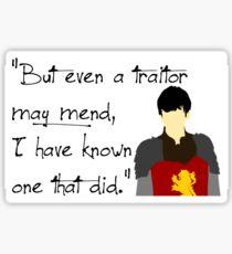 Edmund Pevensie Traitor Quote Sticker