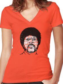 Pulp Fiction - Jules Winnfield Women's Fitted V-Neck T-Shirt