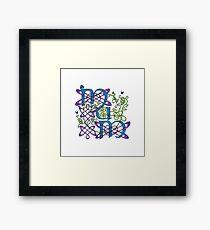 """""""Mum"""" Celtic Butterflies Design Framed Print"""