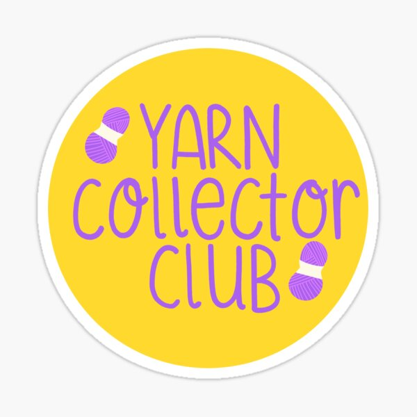 Yarn collector club Sticker