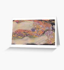 Water Snakes II by Klimt  Greeting Card