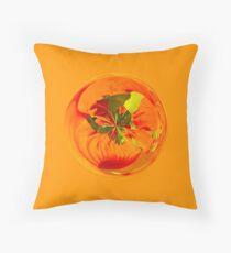 Orange in the globe Throw Pillow
