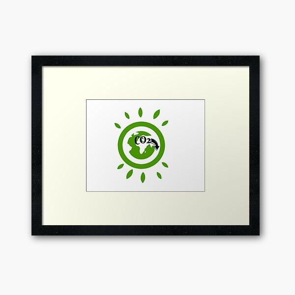 CO2-freie Umgebung Gerahmter Kunstdruck