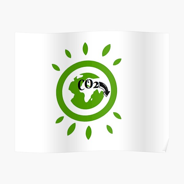 CO2-freie Umgebung Poster