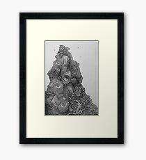 Insanity in black Framed Print