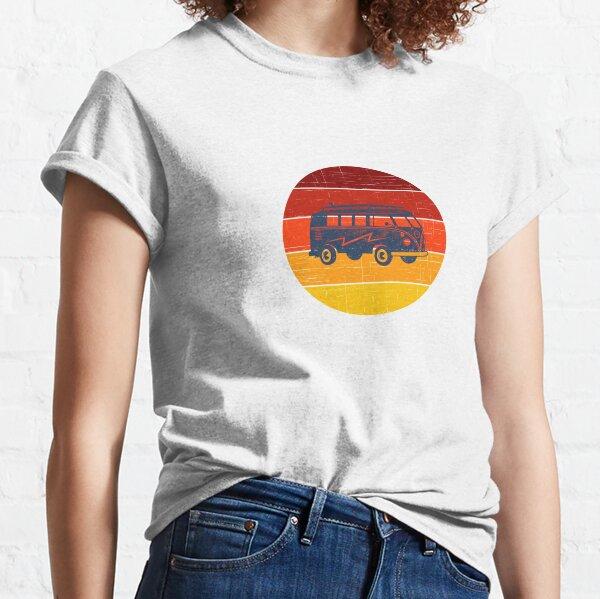 Retro Vintage Camper Synthwave Vaporwave 80s Style Sunset Classic T-Shirt