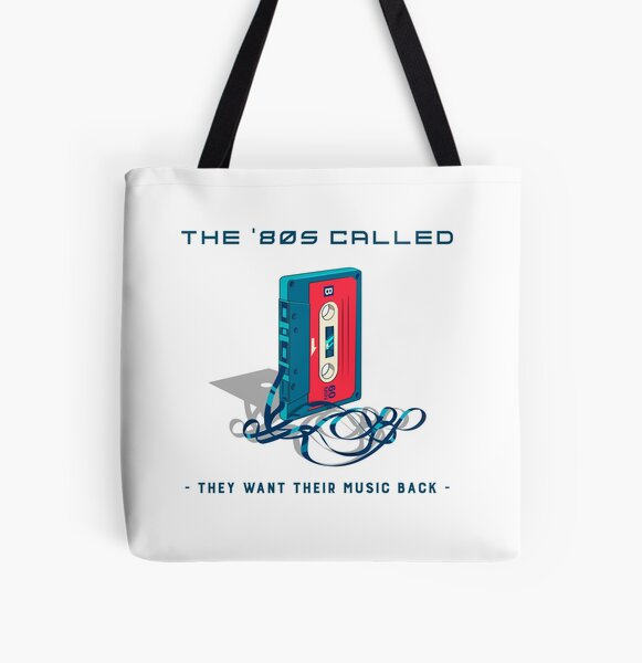 Retro Vintage 80's Eighties Music Synthwave Vaporwave Cassette All Over Print Tote Bag