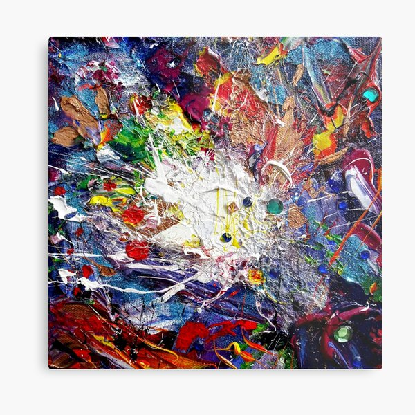 The Big Bang Theory - abstract art of space, the universe and where it all began! Metal Print