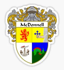 McDonnell Coat of Arms/Family Crest Sticker