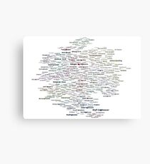 Google Search based Knowledge Graph of Programmers Metal Print