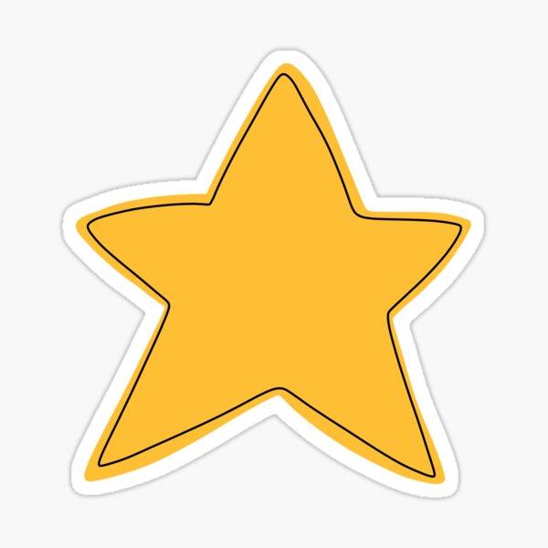 Cute Gold Star Glossy Sticker