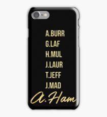 Gold Hamilton Lettering iPhone Case/Skin