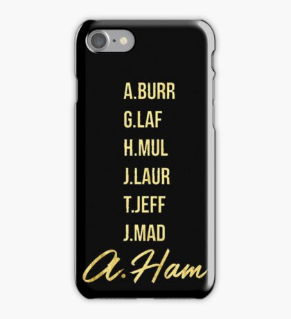 Gold Hamilton Lettering iPhone Case/Skin