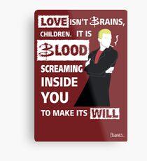 Love is Blood Metal Print