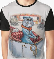 Cat Chauffeur with Kittens in Tow by Louis Wain Graphic T-Shirt