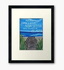 Nova Scotia Beach Framed Print