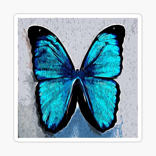 Legakulie Schmetterling türkis Sticker