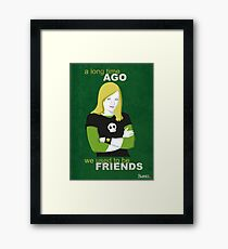 We used to be friends Veronica Mars Framed Print