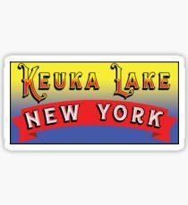 KEUKA LAKE NEW YORK FINGER LAKES NY Sticker
