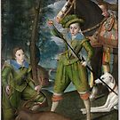 Henry Frederick (), Prince of Wales, with Sir John Harington (), in the Hunting Field ,  Robert Peake the Elder by MotionAge Media