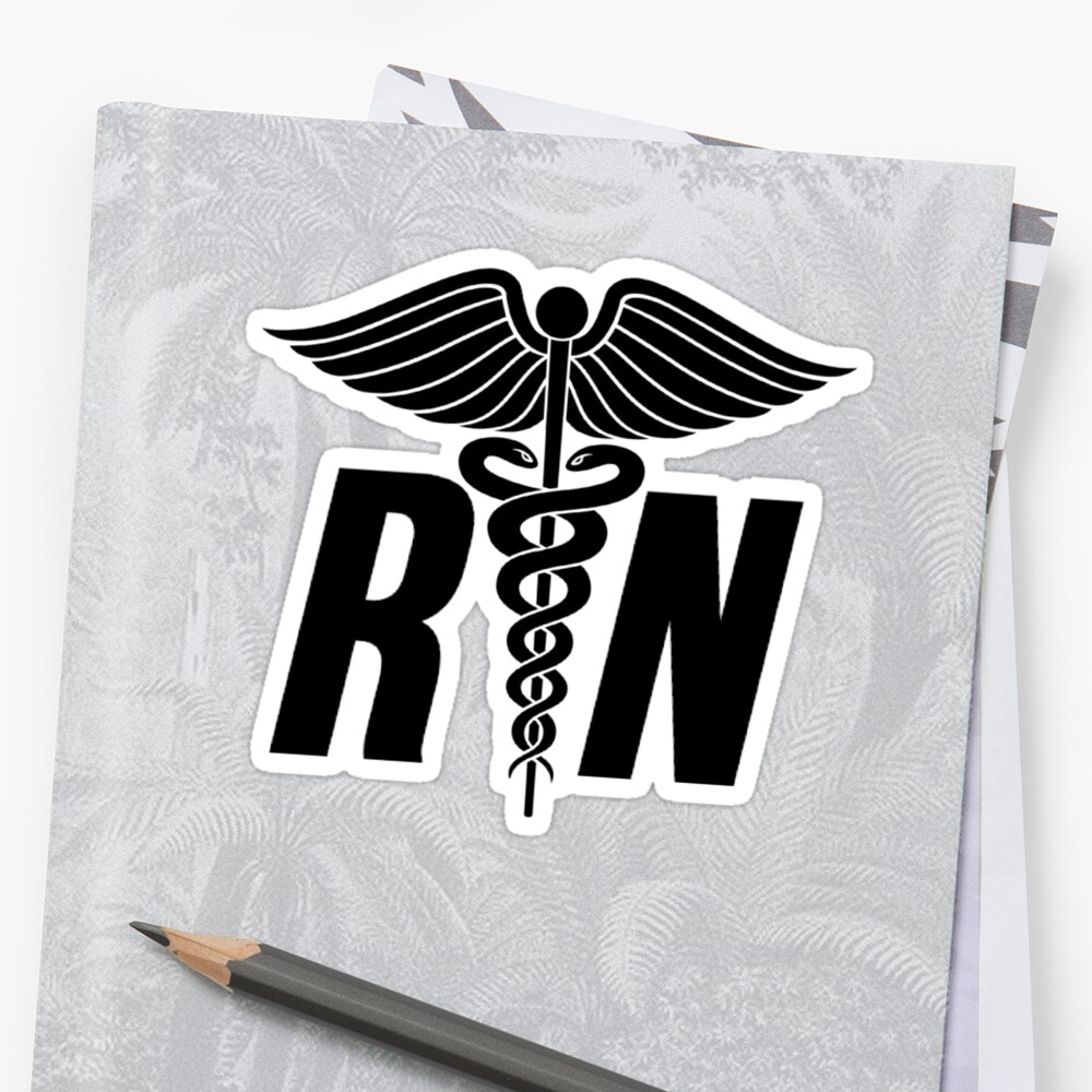 Registered Nurse Symbol Stickers By Mralan Redbubble