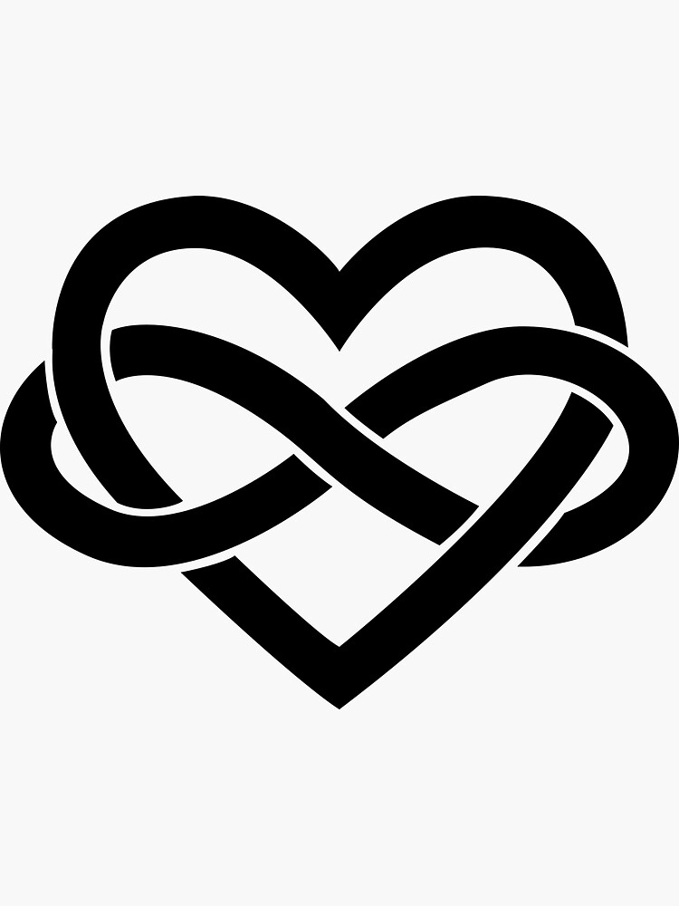 Black Polyamory Infinity Heart by polyphiliashop