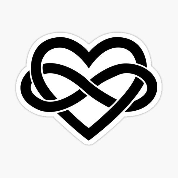 Black Polyamory Infinity Heart Sticker