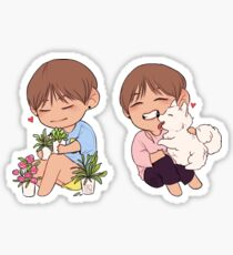 your local plant and puppy lover Sticker