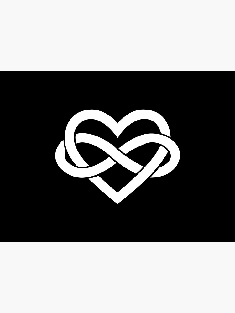 White Polyamory Infinity Heart by polyphiliashop
